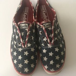Keds slip on American Flag Patriotic sneakers 8